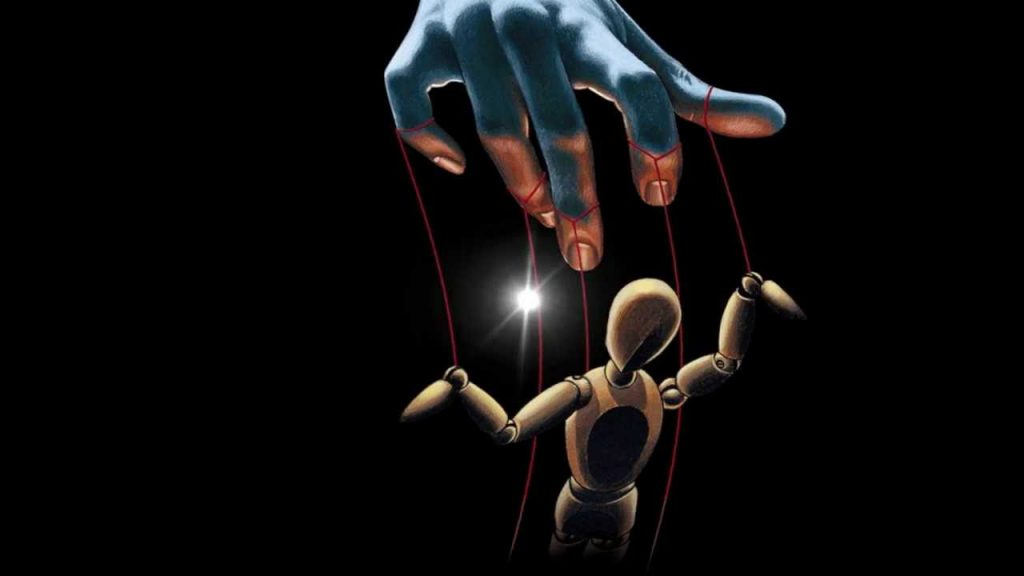 Puppet on strings with no free will.