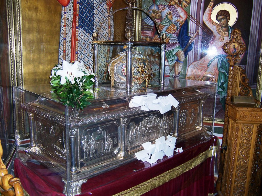 The holy relics of Saint Demetrius.