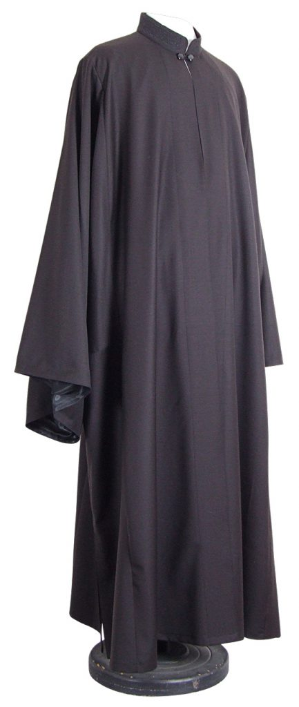 Black outer cassock, a non-liturgical vestment for Orthodox clergy.