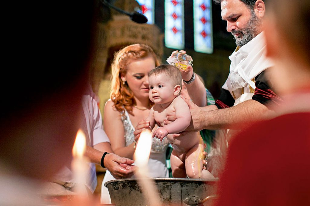 An infant baptism in the Orthodox Church