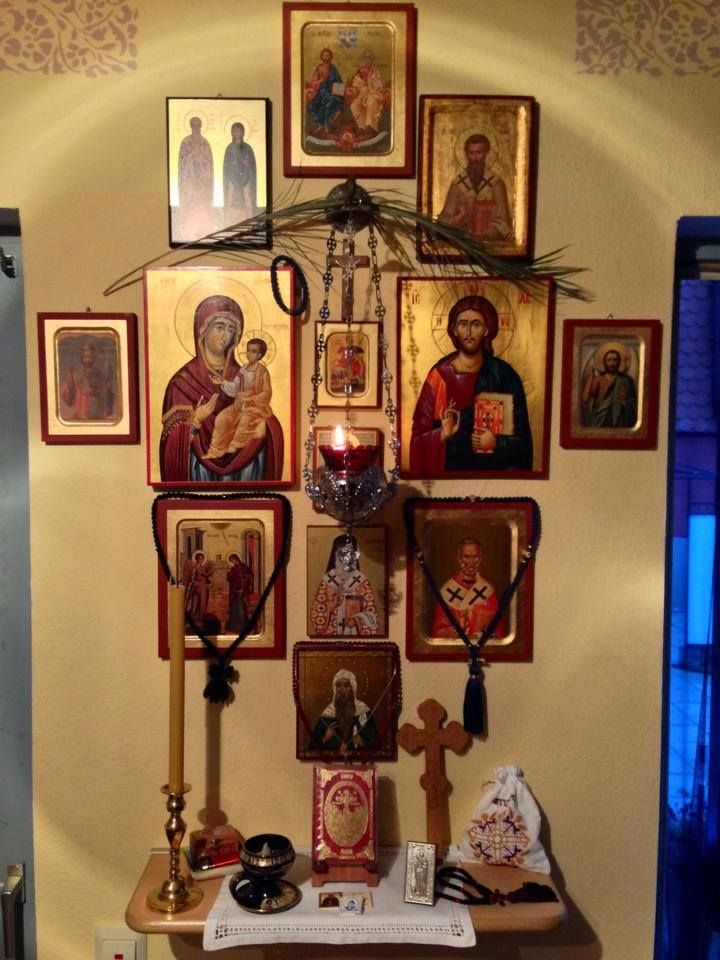 A small Orthodox prayer corner