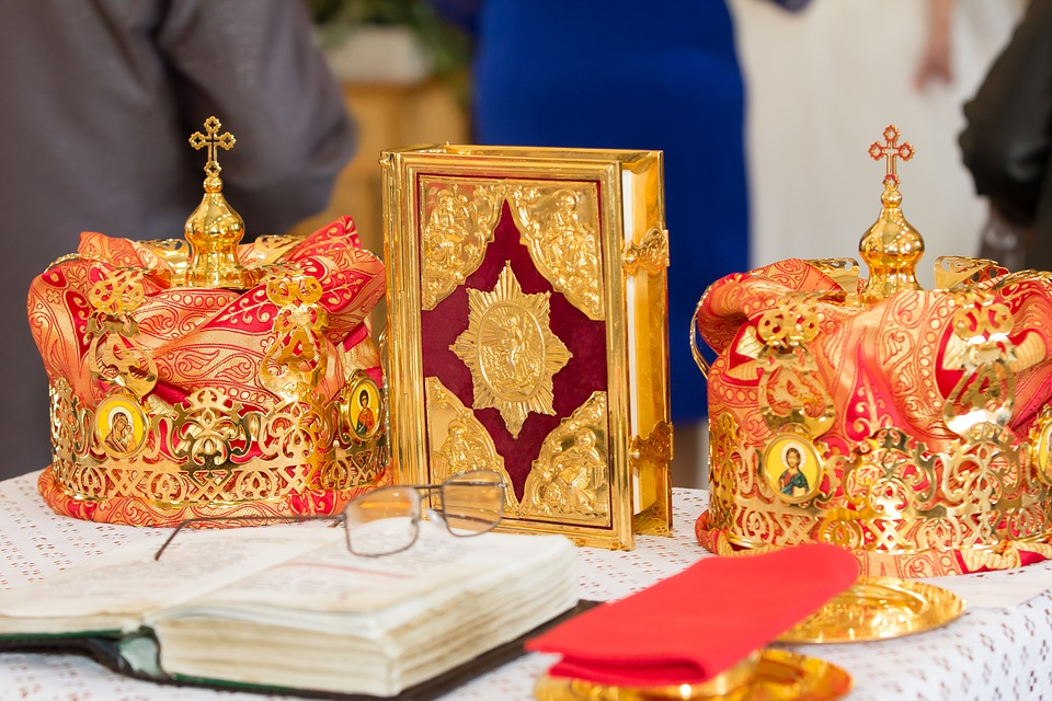 Orthodox wedding crowns