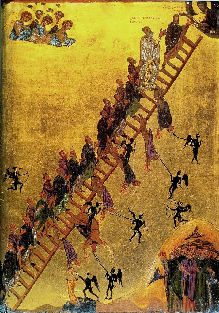 Ladder to heaven as a symbol of the journey of deification.