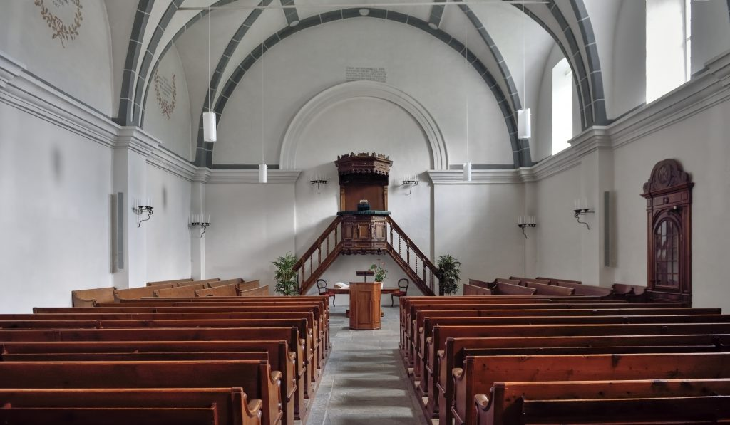 Inside of a Reformed church