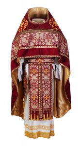 Red priest vestments